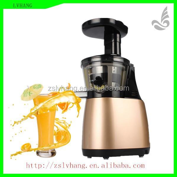 Korea big mouth slow speed auger aluminium manual fruit juicer
