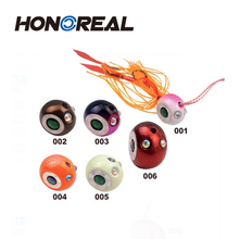 Colorful metal lead fishing jig head lure skirts lure