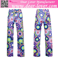 Womens Thai Silk Wrap Hippie Wide Leg printed Palazzo Pants for lady