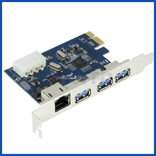 Pci express Gigabit Ethernet Wired Network Adapter+3 Port Hub