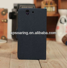 for sony xperia z l36h stand wallet leather case with card slots