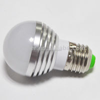 low power high brightness rgb 3w led lighting bulb ac100~240v e27 e26 b22