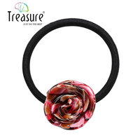 Elastic acrylic flower hair band colorful acetate headbands girls 2015 new cute flower head bands hair accessories tiara