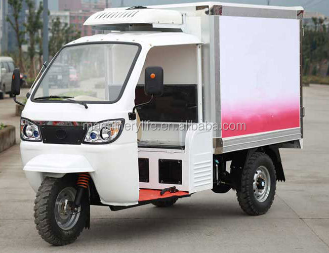 250cc Water Cool Engine with 1.8 Meter Refrigerated Cargo Box Ice Cream Tricycle