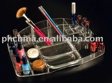 SCD-45 Water Clear Acrylic Make-up Organizer,Acrylic Beauty Tray/Case