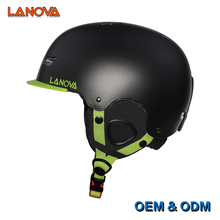 Outdoor Sport Skiing helmet with ABS shell specially add the Visor and goggles hanger full size ski helmet