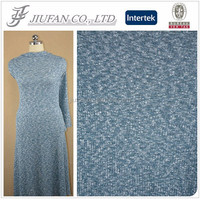 Jiufan Textile Knitted Blue and White TR Rib 70 Polyester 30 Rayon Spandex Fabric