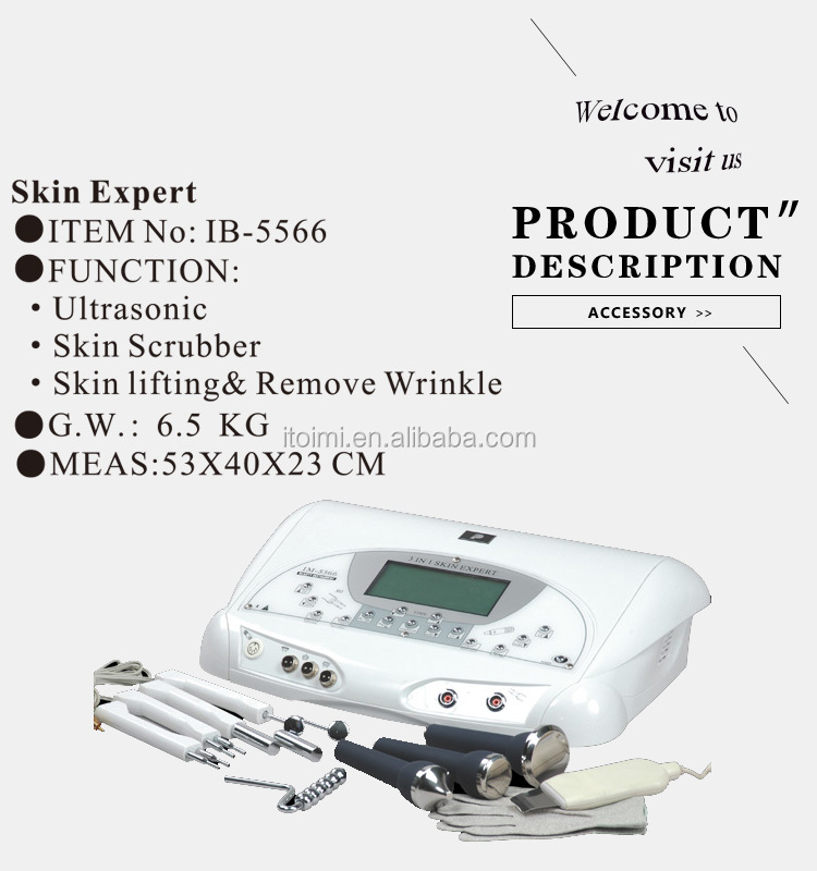 Skin scrubber ultrasonic peeling beauty salon machine with bio electric glove for health care wholesale price factory outlet