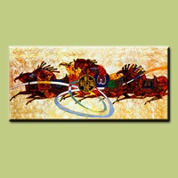 Abstract animal Horse Oil Painting for Hotel Decoration