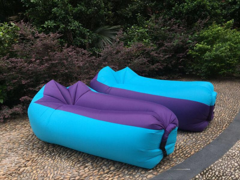 Top sale high quality lay bag for outdoor camping banana sleeping air bag