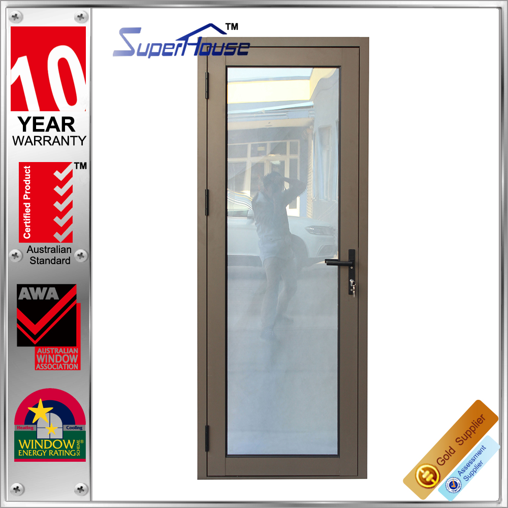 office glass doors and window AS2047 Australia standard aluminum hinge door china supplier