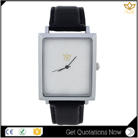 Trade assurance black genuine leather simple dial water alloy watchcase quartz bracelet watch Y017