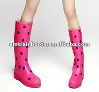 Colored wellington boots