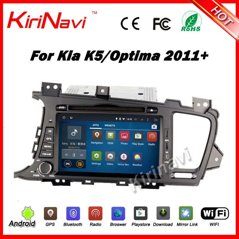 Kirinavi WC-KU8048 android 5.1 touch screen car dvd gps for kia k5 optima 2011+ multimedia navigation WIFI 3G BT Playstore