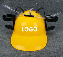 customized Logo Hot selling plastic promotional beer can helmet drinking hat