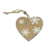 Bsci Antique Wood Laser Cut Christmas Decorations