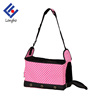 2017 new design 3 ventilated hole shoulder tote puppy carrier stripe dot fashion cheap dog cat pet carrier travel