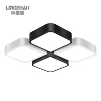 Square Creative Suspended LED Ceiling Light Modern