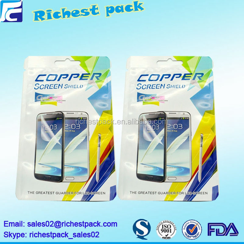 Manufacturer China custom printed cell phone packaging zip lock plastic bag