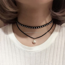 N3498 fashion manufacturers hot selling new ethnic multi layer wholesale choker chain pearl necklace boho style bulk jewellery