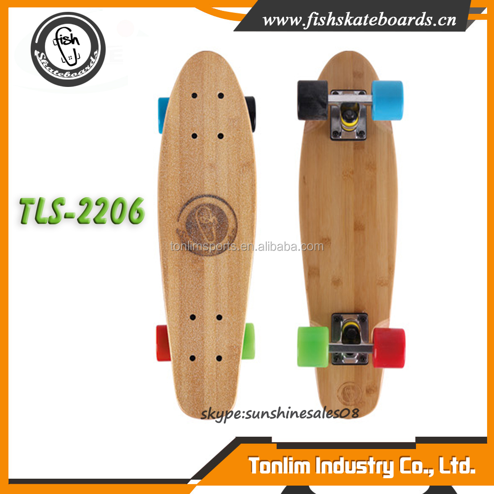 Professional 100% canadian maple skateboards 22 inch cruiser skateboard wood