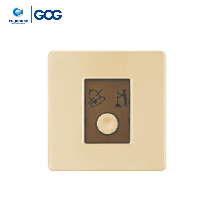 GOG new series hotel used doorbell switch,do not disturb and make up room hotel room switch