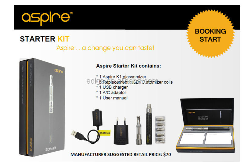 Aspire starter kit with New K1 glassomizer use Aspire BVC coils