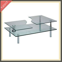 horse glass designer extendable coffee table