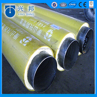pu foamed direct buried underground pre-insulating duct for heating and cooling supply