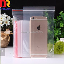 Wholesale Custom Transparent Waterproof Color Line Cell Phone Plastic Ziplock Bag