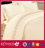 4pcs kosmos Nantong factory laces stitched bulk cheap bed cover sheet