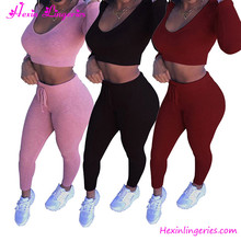 Women Fashion Split 2 Piece Set Casual Bodycon Casual Outfit Sportswear