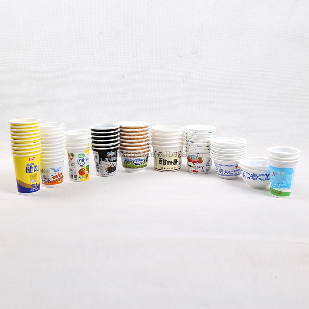 JC fishing lures PP/PS disposable soybean packaging cups,bowls,food grade cling film