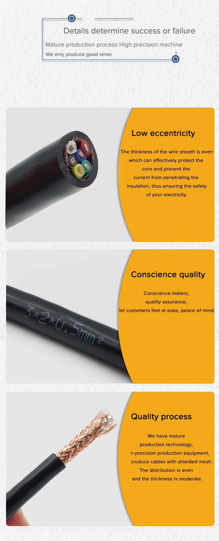 PVC insulated shielded twisted RS485 RVSP signal communication cable 10*0.12mm2