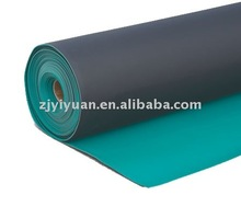 Manufacturer YIYU 2mm ESD rubber floor mat green dull cushion