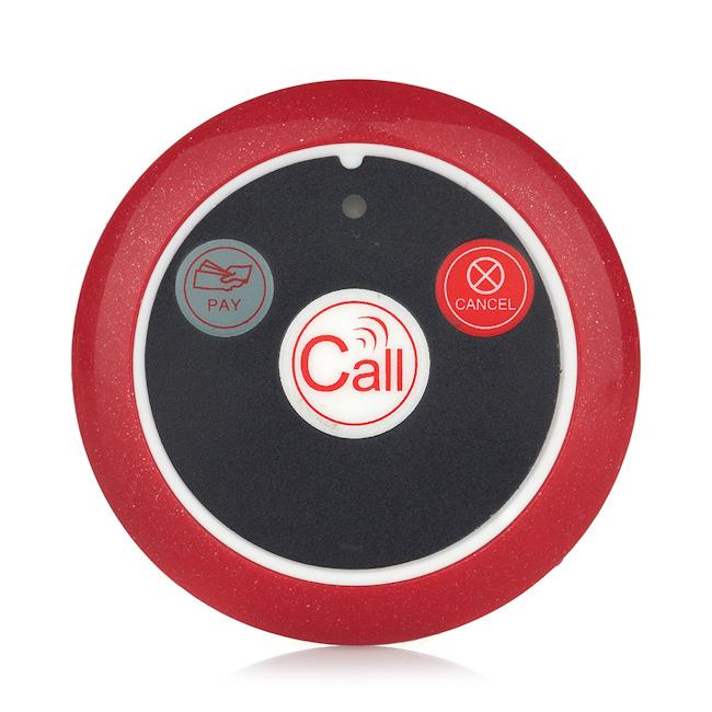 Cloche d'appel sans fil système de radiomessagerie restaurant serveur slim 1-4 touches bouton d'appel - ANKUX Tech Co., Ltd