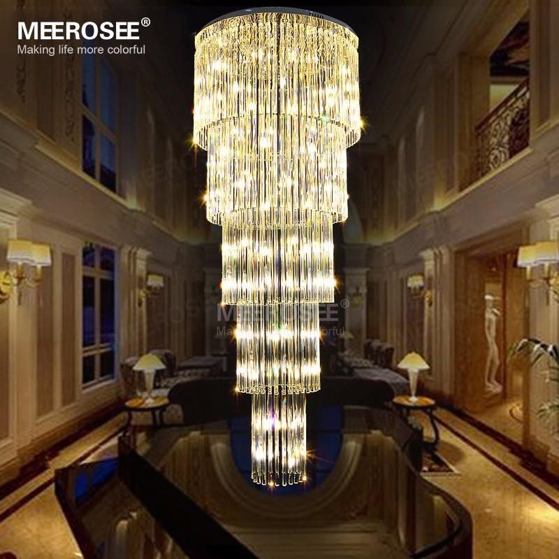 Largo moderno techo G9 cristal lustres de cristal iluminacin de