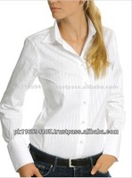 Women's Plain Solid Color Long Sleeve Cotton Dress Shirts