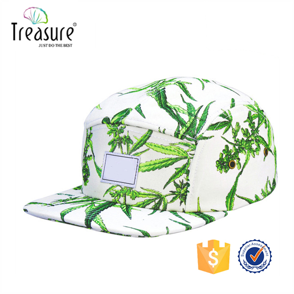 custom 5 panel leather camo military hat/fashion flat top designer camo military hats and caps/new cotton