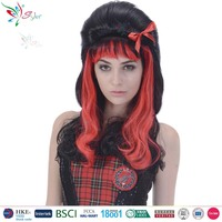 Styler Brand 2016 long curly wig cheap colorful party women synthetic hair bohemian curly wig