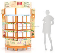 Hot sale shower gel display stand / body wash plastic display / display racks and stands