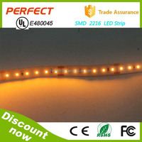 UL CE ROHS certificate SMD 2216 LED strip light,has high brightness,low power and high CRI 95 from china wholesale