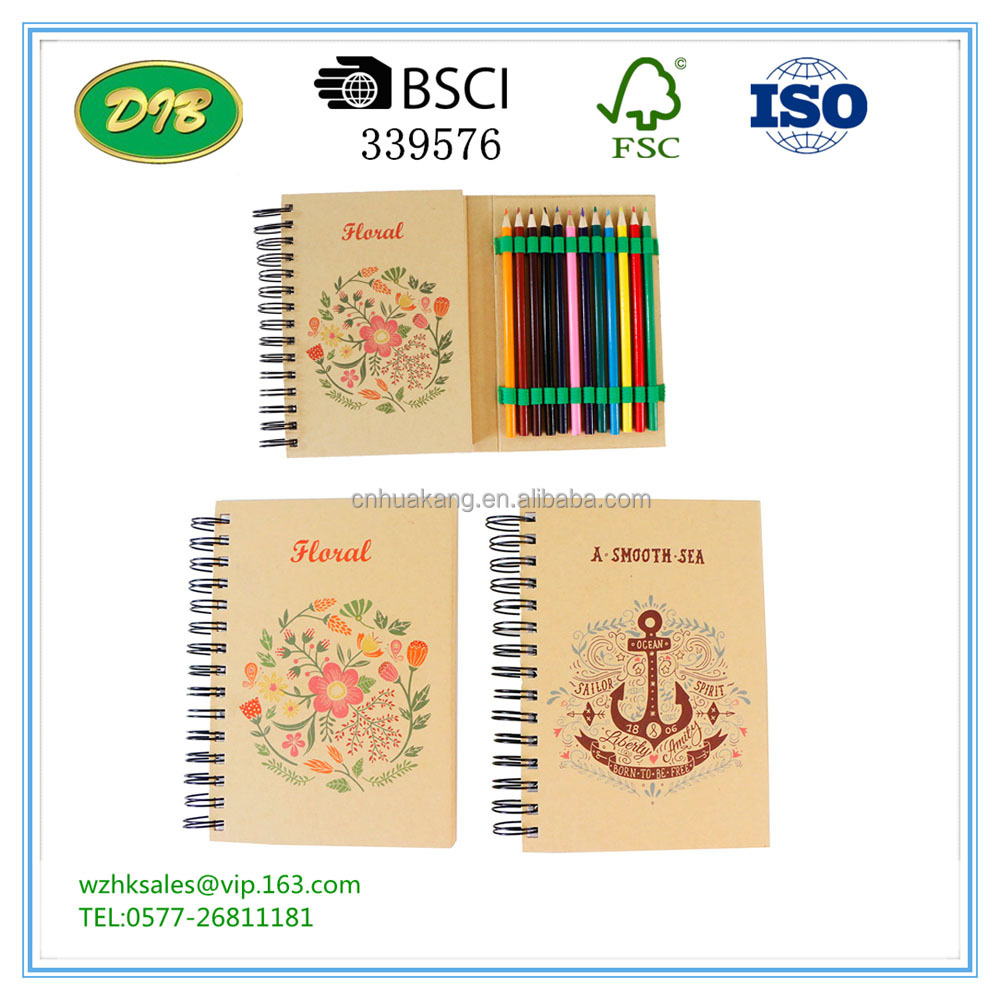 flower back to school stationery coloring book set for children/kids