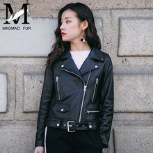 New Arrived Star Style Korean Leather Jacket For Women 100% Leather Jackets