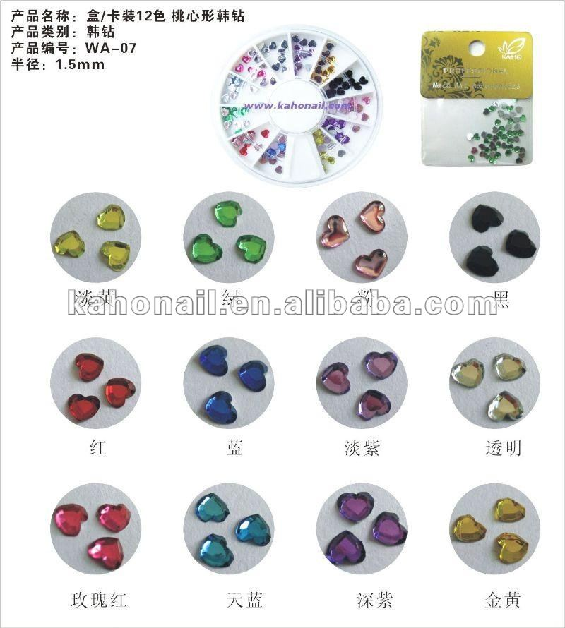 china manufacture fashion nair art nail beauty manicure tool set korea stone urea stone