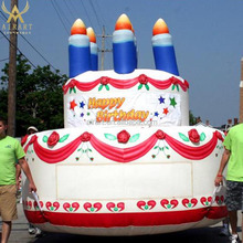 birth party ideas customized giant inflatable birthday cake model/inflatable replica for inflatable advertising