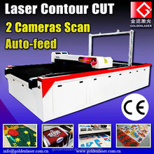 Laser Printing Clothes Cutter/Sublimated Sportswear Laser Cutting Machine