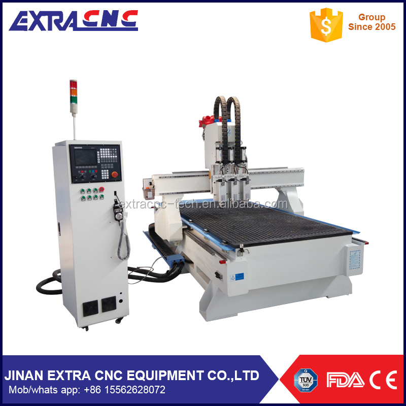 1325 pneumatic system 3 spindle , multi head cnc atc 1325 , 3d wood carving router machine 3 axis with balance cylinder