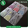 2015 product flower case for iphone 5 cover shining glitter hard back cover for iphone 5s case