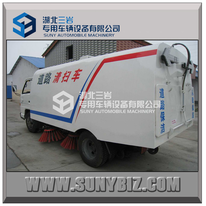 municipal construction machine 4-10cbm Road Sweeper Truck with Cleaning Brushes and Water spraying Function